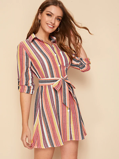 girl-in-a-striped-shirt-dress