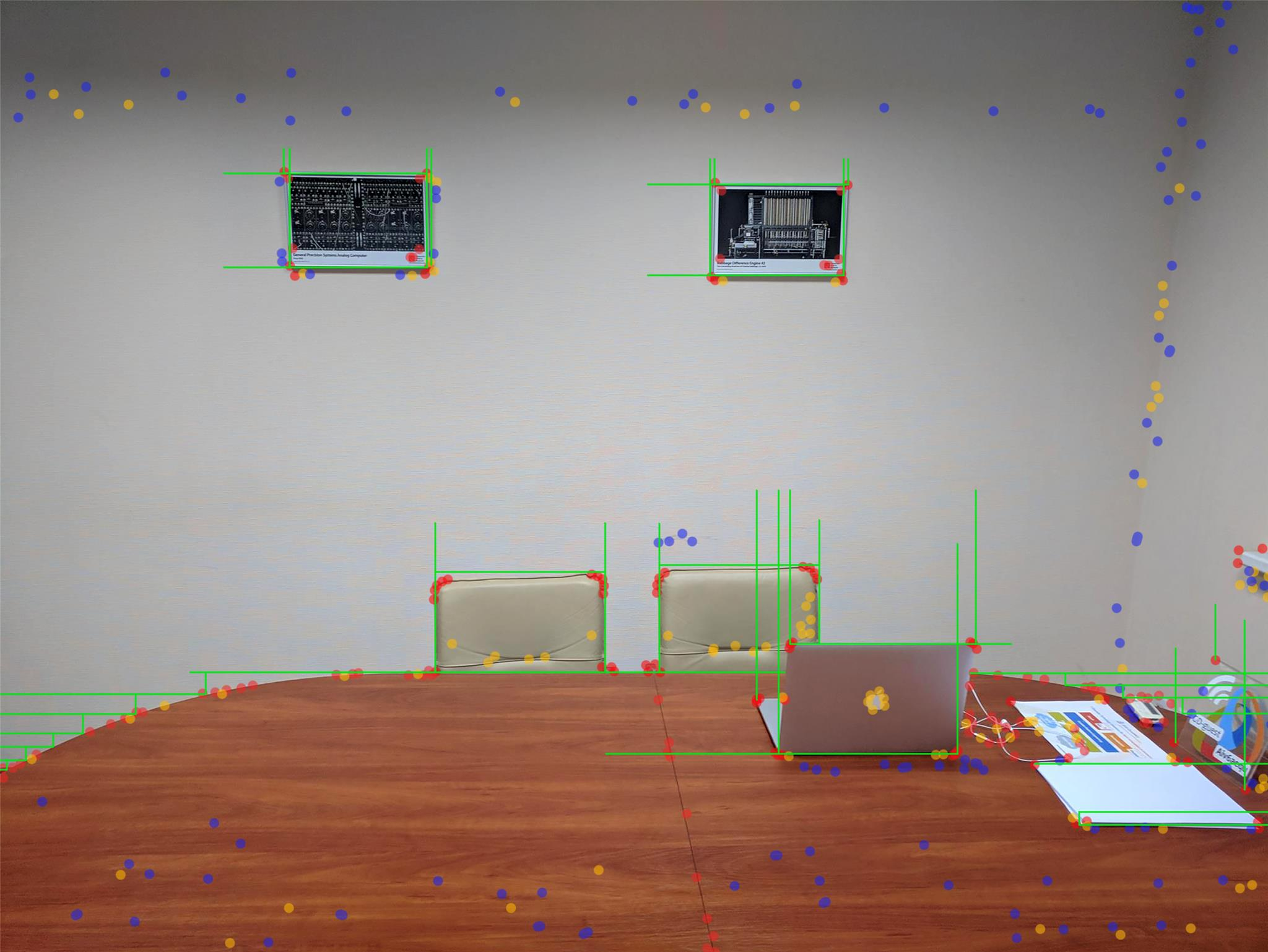 Example of ARCore using visual odeometry technology for a room