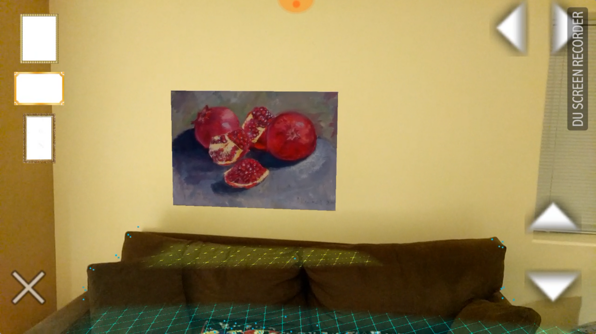 Example of Agumented reality: adjusting the picture on the wall