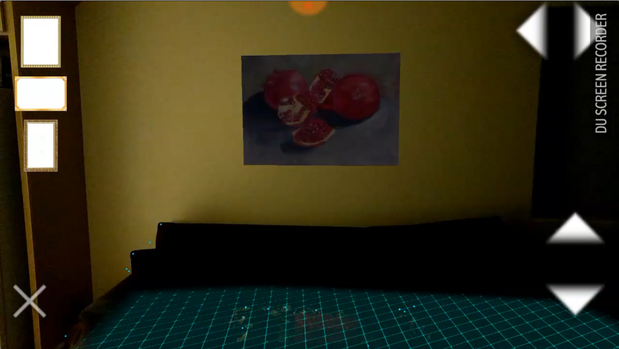 Example of Agumented reality in low lighting